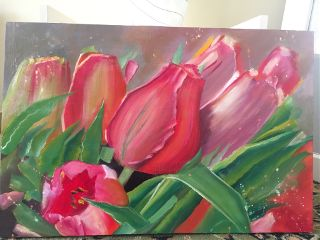 oilpainting oilpaint paint flower art