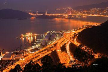 bridge#nightview sea#photograpy travel#hongkong bridge nightview