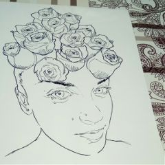 drawing ink theprometeus inprogress