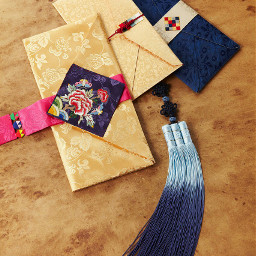 traditional flower_pattern korean envelope colorful