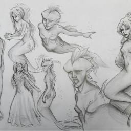draw drawing mermaid art traditionalart