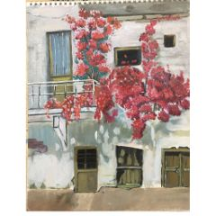 painting oilpainting paint flower balcony