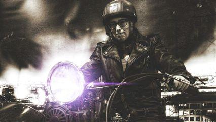 photography blackandwhite motorcycle girl lensflare