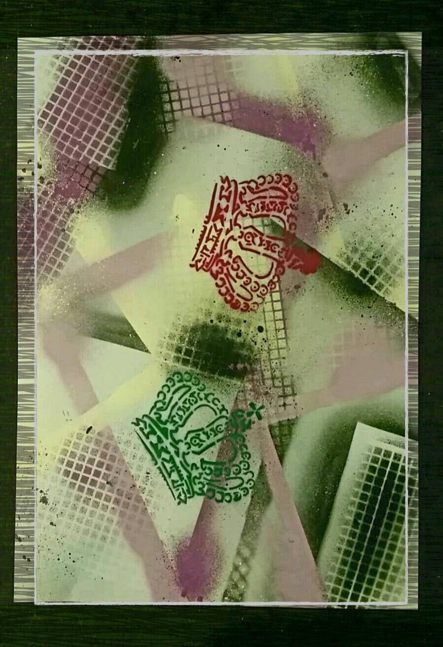 art graffiti crown experimental painting