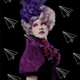 freetoedit hungergames effietrinket paperairplanes purple