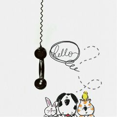 freetoedit telephone handset drawing petsandanimals