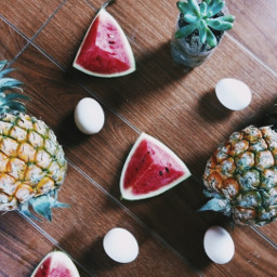 freetoedit summer tropical color fruits