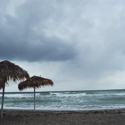 freetoedit sea beach umbrellas nature