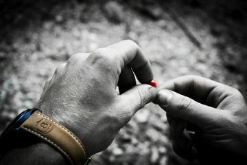 hands wristwatch watch berry colorsplash