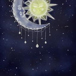 freetoedit wdpdreamcatcher mydrawing moon sun