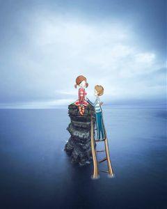 freetoedit love cute couple sea