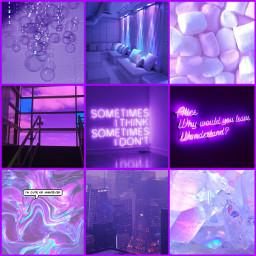 freetoedit aesthetic purple grid collage