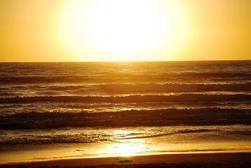 sunset ocean beach sandiego california