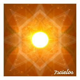 sun light orange lineeffect mandala freetoedit