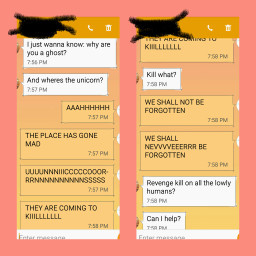 freetoedit textmessages revenge unicorn funny