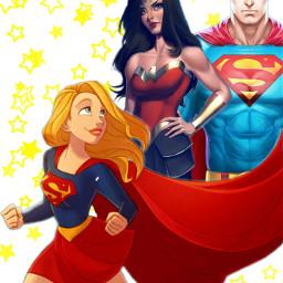 freetoedit supergirl wonderwoman superman superhero