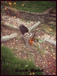 freetoedit enchantinglyexhausted rocks treestump rockband