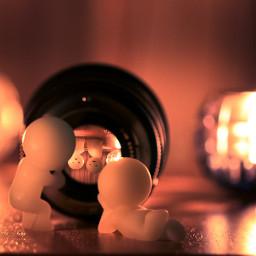 cute love photography popart smiski