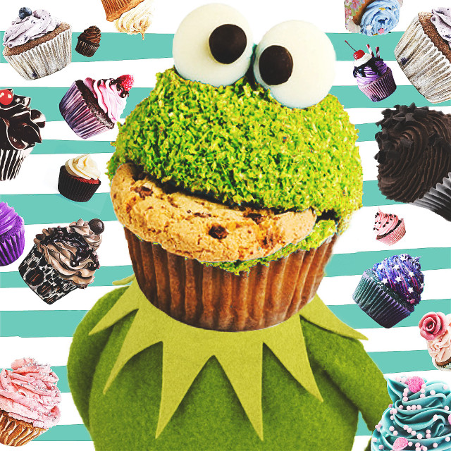 #FreeToEdit  #cupcakes #cookies #kermit