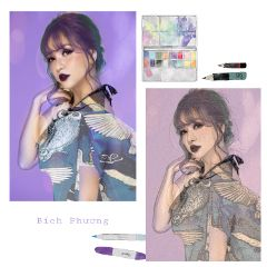 freetoedit drawn violet colorfull beauty