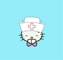 freetoedit hellokitty nurse cat nice