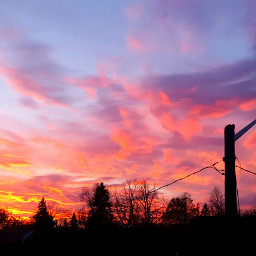 FreeToEdit photography nature landscape sunset cloudscape brilliant stunning colorful unedited