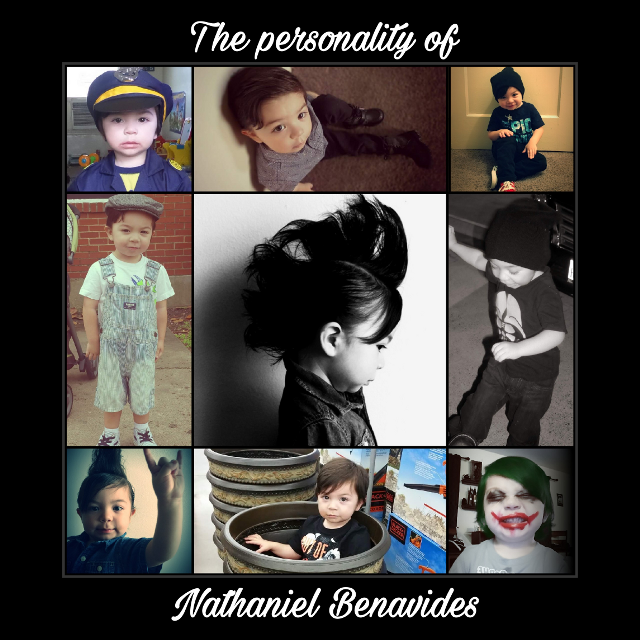 #personality #toddler #mylove #photoproject #canvasart #modelready #toddlermodel #joker #poorboy #policeofficer #skater #heartbreaker #walmart #plant #tradgoth #mohawk #beaniebaby#FreeToEdit