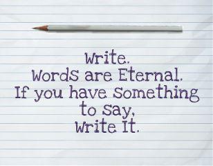 freetoedit write words pencil eternal